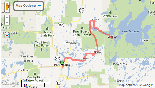 Headwaters 100 Route Map