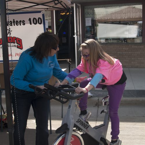 Spin bikes for community education